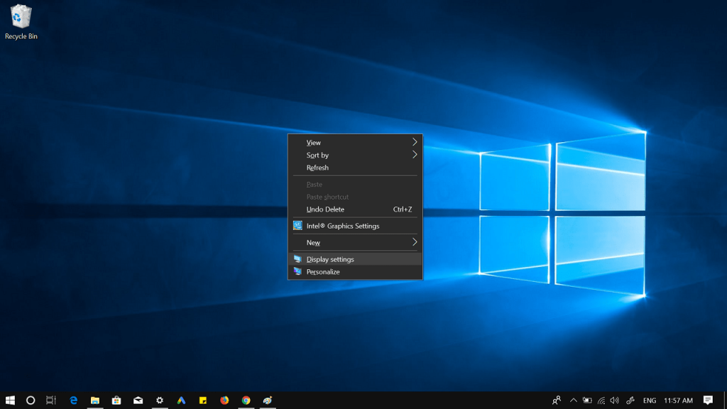 how to change display settings in windows 10