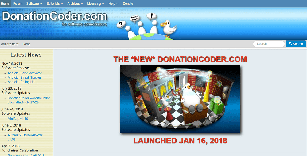 donation coder- free software download site for windows