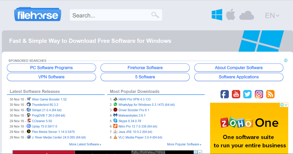 filehorse - free software download site for windows
