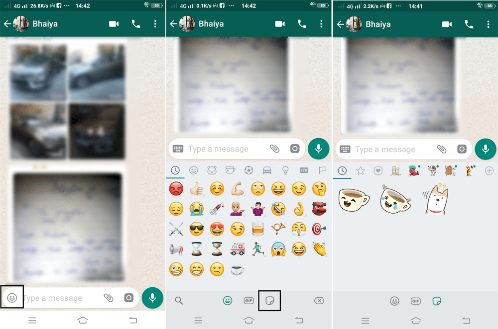 how to use stickers on whatsapp