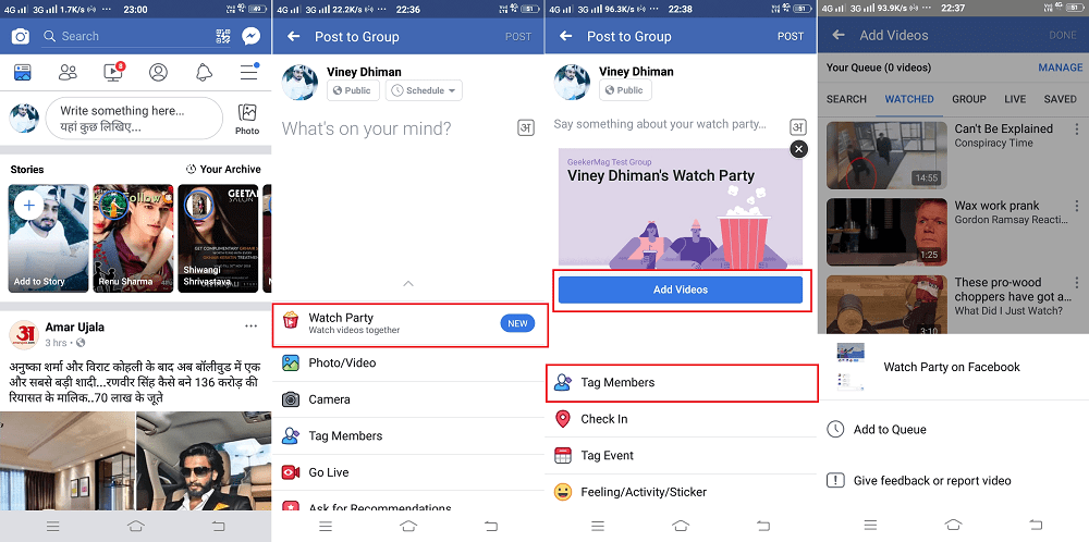 Host Facebook Watch Party on Phone (Android and iOS)