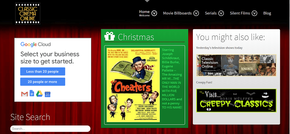 Classic cinema online - best free movie streaming site