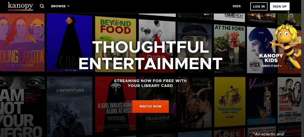 kanopy - best free movie streaming site