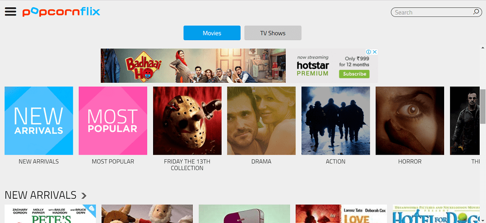 popcornflix - free movies streaming online