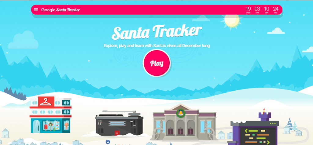 google santa tracker and google santa village