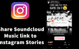 How to Share Soundcloud Music links to Instagram Stories