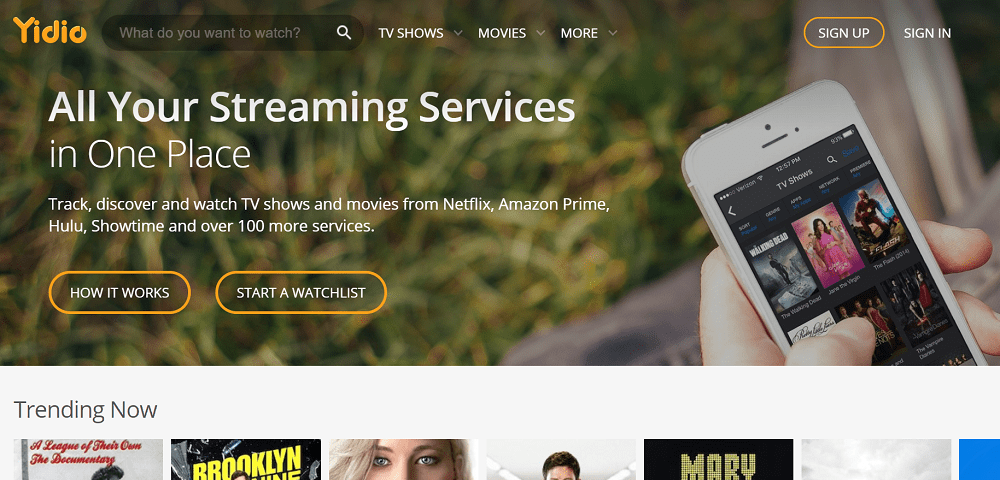 yidio - best free movie streaming site