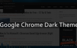 how to enable chrome dark theme