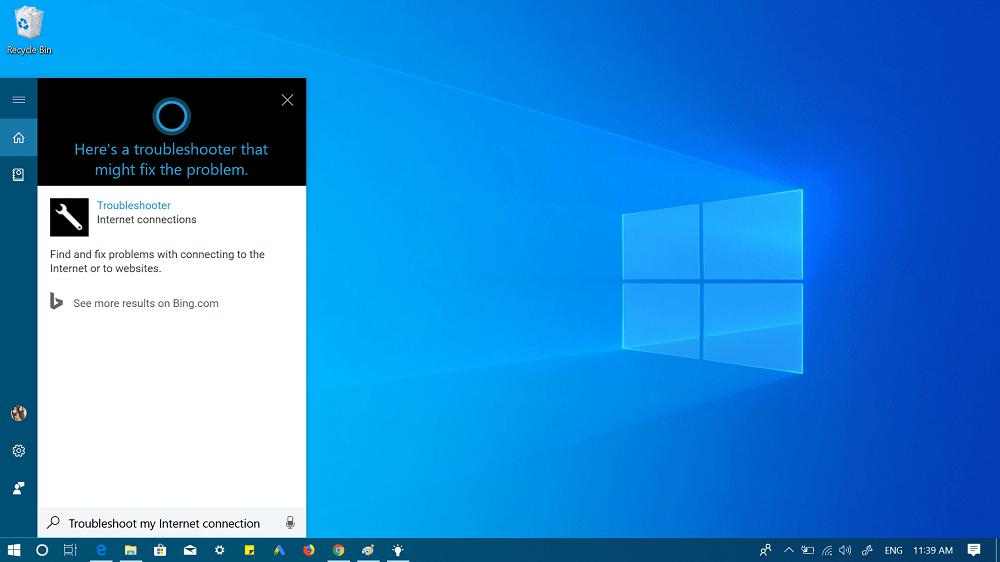 ask cortana to get help in windows 10