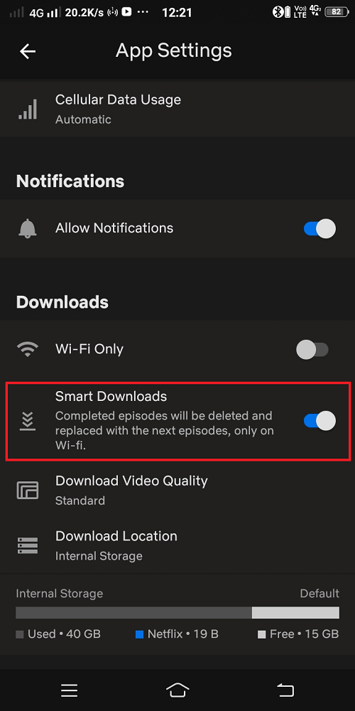 netflix smart download