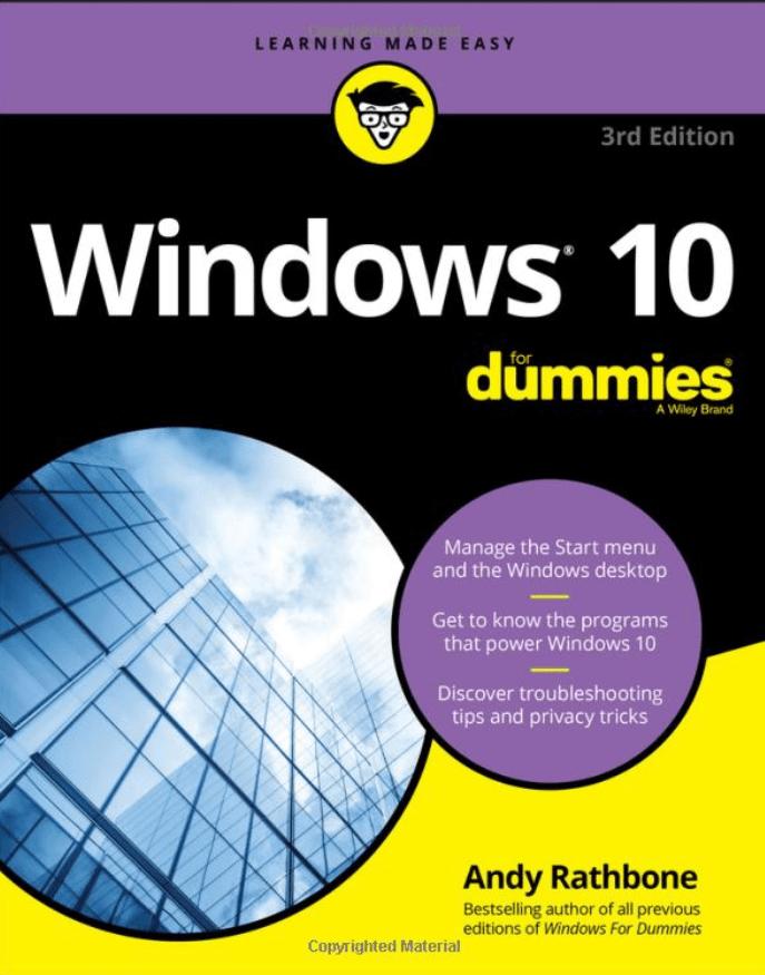 windows 10 for dummies andy rathbone
