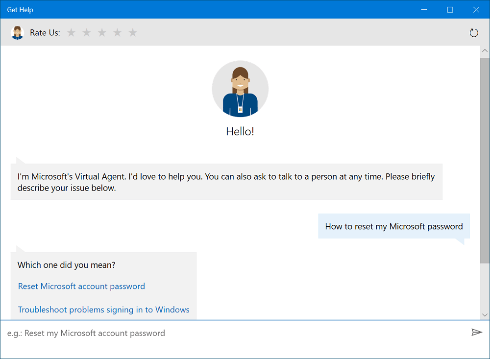 Windows 10 get help app