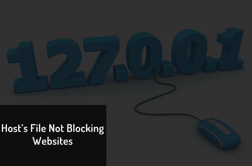 Can't block website using hosts file