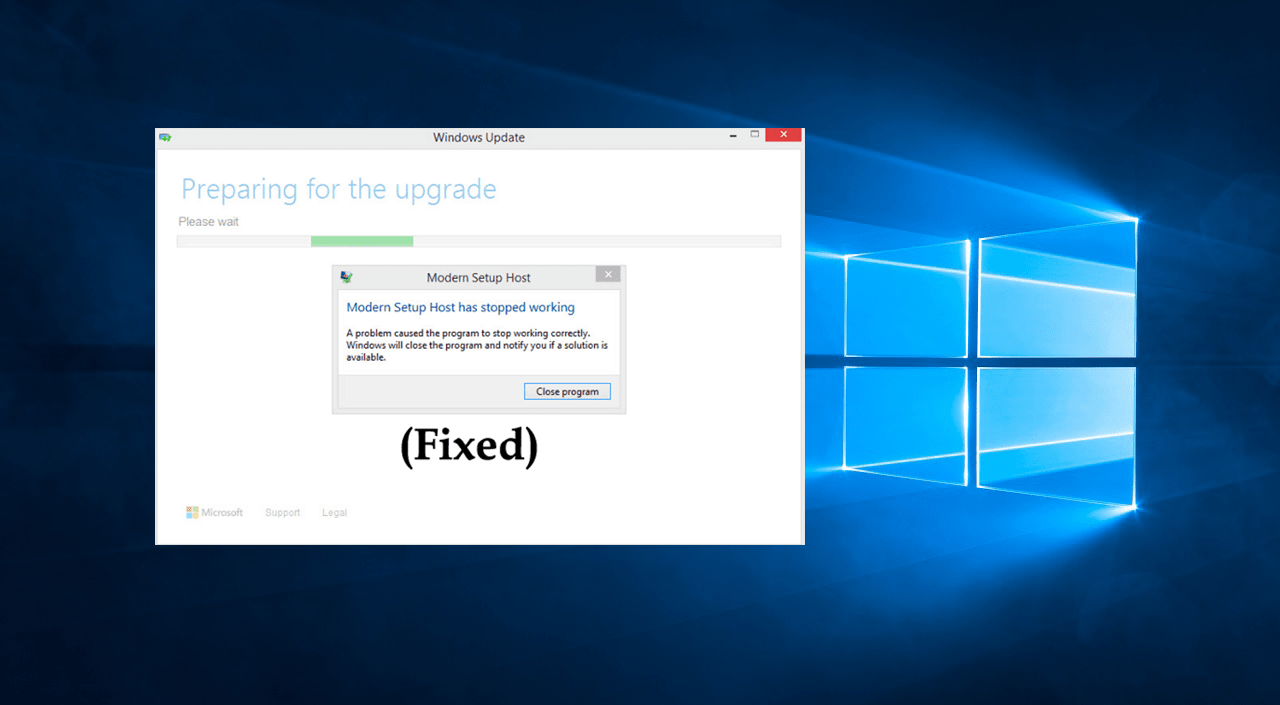 Fix - Modern Setup Host in Windows 10 has Stopped Working