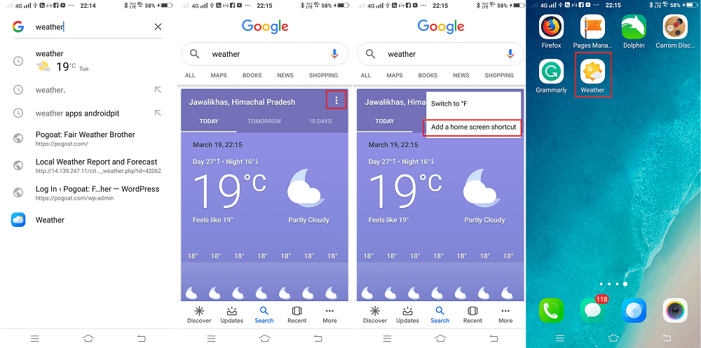 add google weather