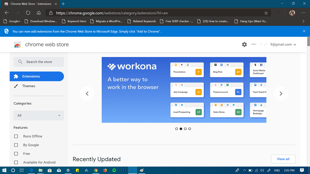 open chrome web store in edge browser