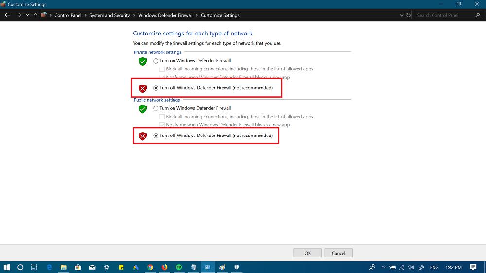 customize windows defender firewall in windows 10