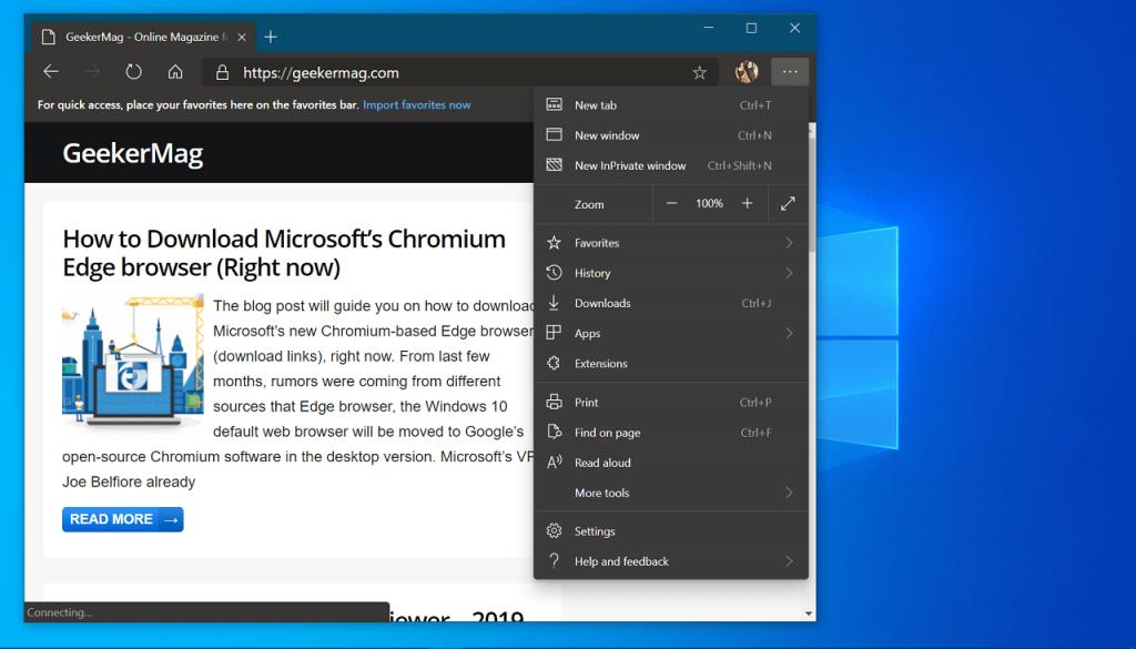 How to Enable Dark mode in Microsoft Chromium Edge on Windows 10