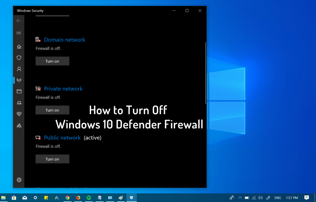 how to disable firewall in windows 10