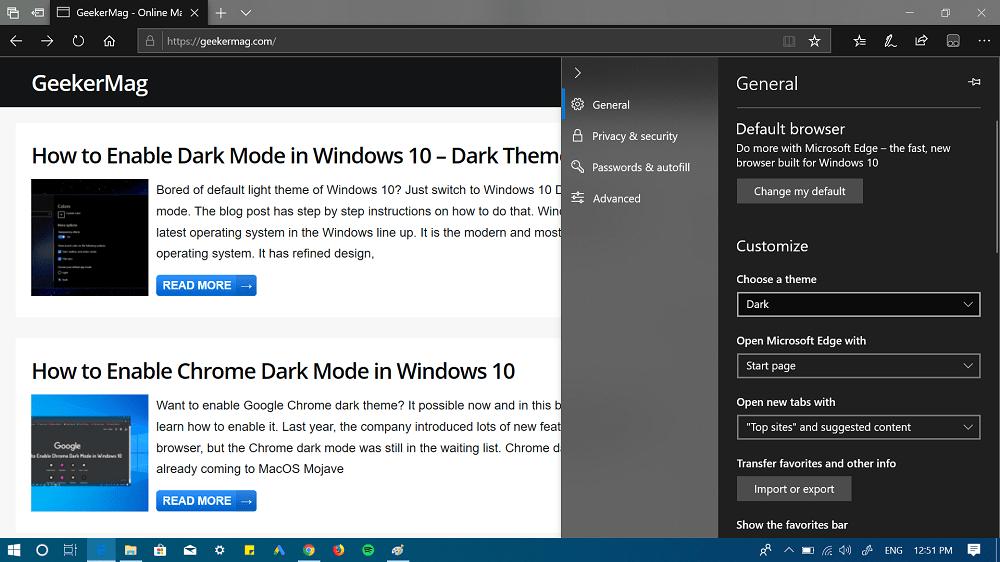 select edge dark theme