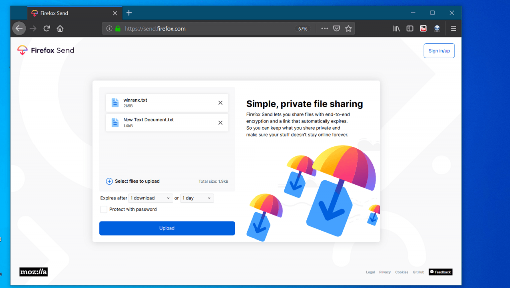 How to Use Firefox Send to Share Large files Privately