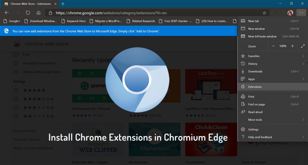 How to Install Chrome Extensions in Chromium Edge Browser