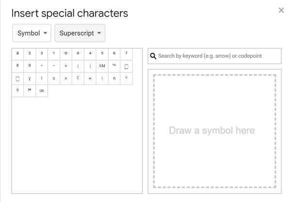 superscript