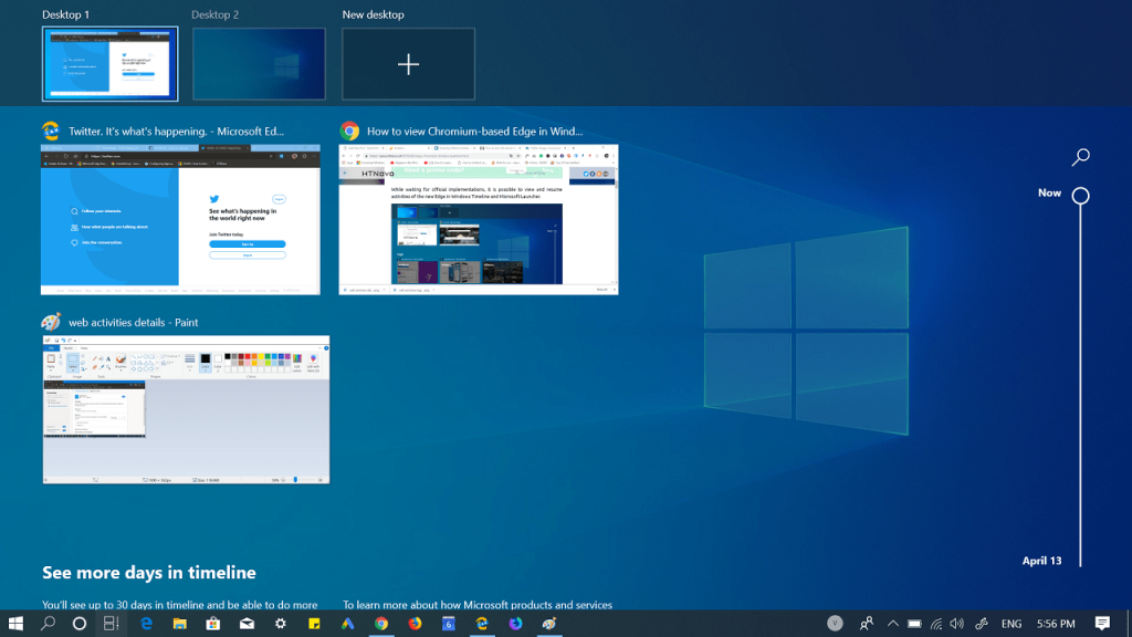 How to Enable Windows 10 Timeline Feature in Edge Chromium