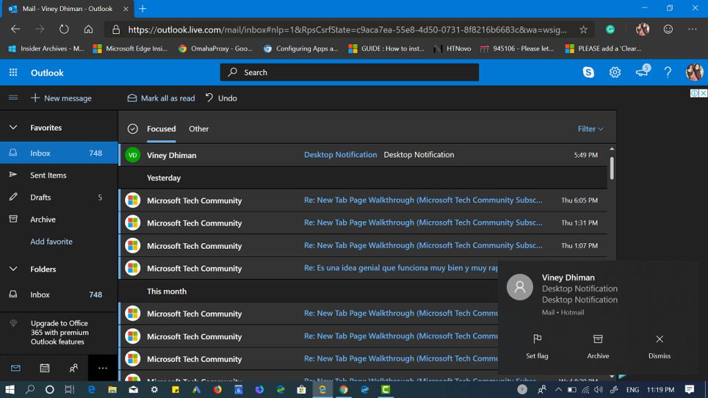How to Enable Desktop Notifications in Outlook.com