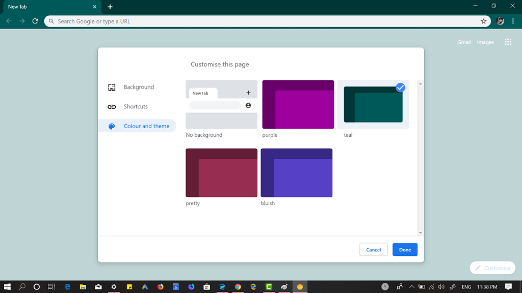 Chrome 77 Canary lets you apply colors to browser UI