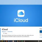 download icloud app for windows 10 desktop from Microsoft store