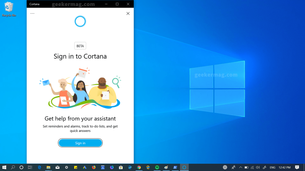 Here's How to Download and Install New Cortana App on Windows 10 April 2019 Update