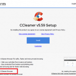 ccleaner automatically installing ccleaner browser
