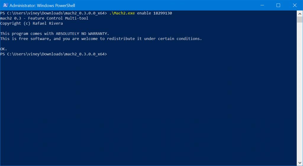 enable header in settings app of windows 10