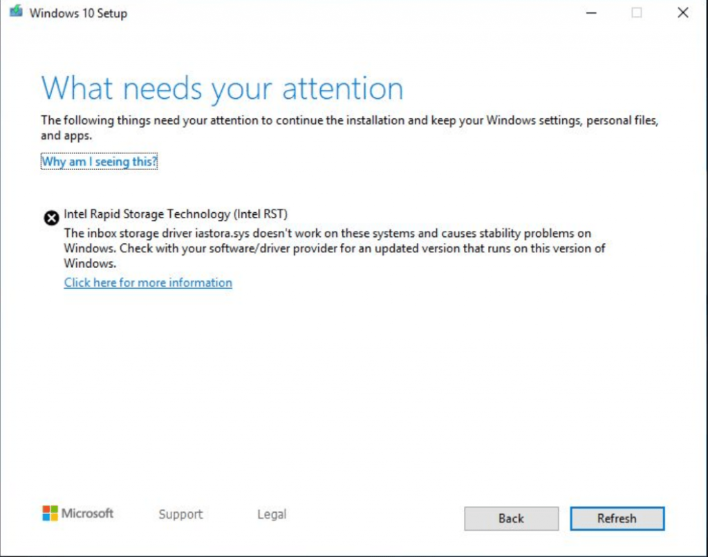 fix - Intel Rapid Storage Technology (Intel RST) in windows 10 may 2019
