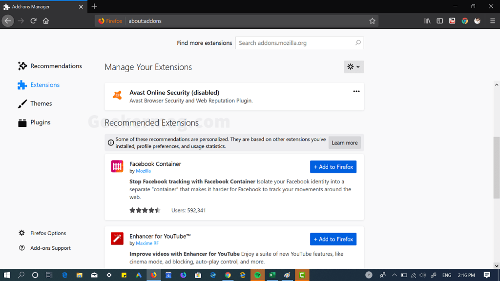 """How to Disable """"Recommended Extensions"""" in Firefox 68"""
