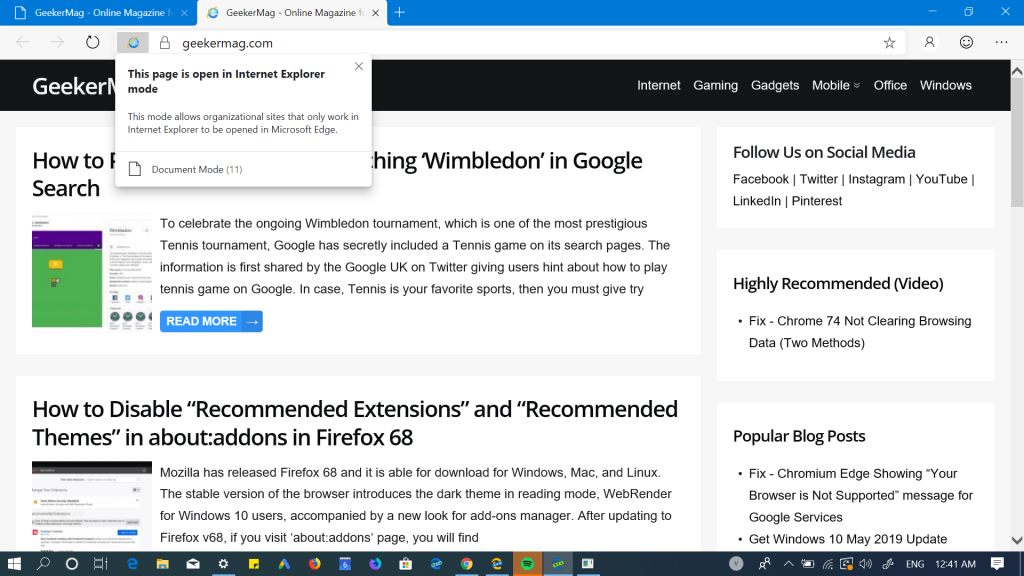 How to Enable and Use Internet Explorer Mode in Edge Browser