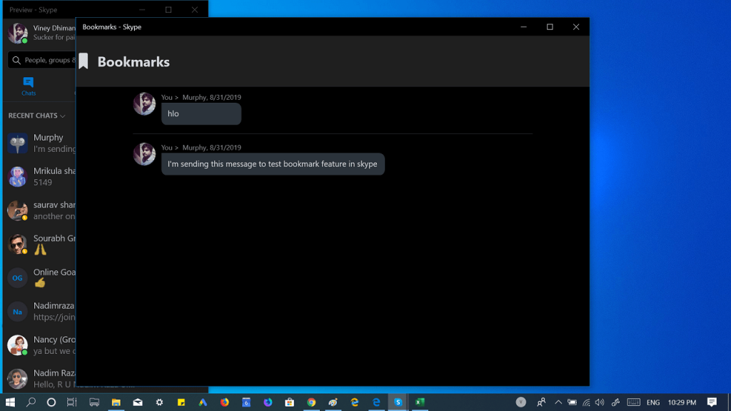 How to Bookmark a Message in Skype - 2019