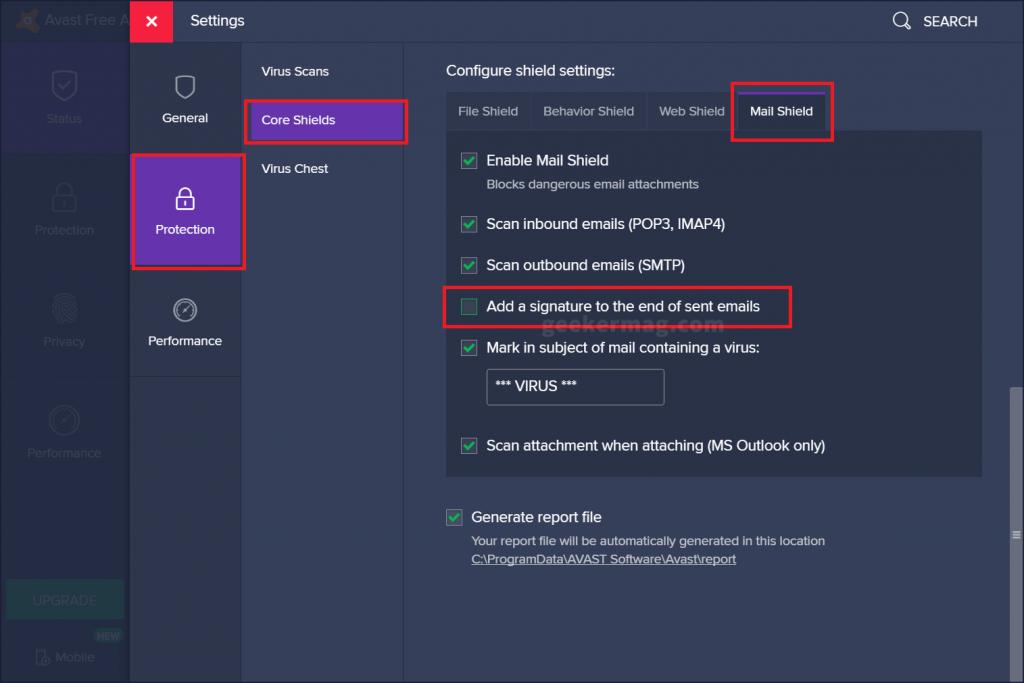 avast free antivirus mail shield