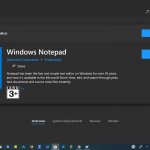 Download Windows Notepad app from Microsoft Store