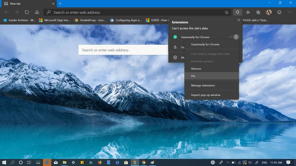 How to Enable Extensions Menu Button in Microsoft Edge Chromium