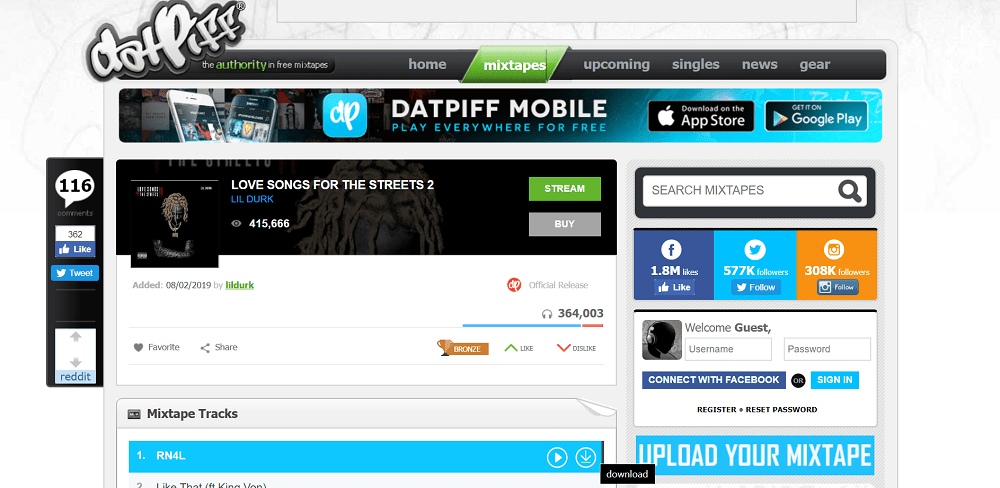 datpiff - best sites to download free mixtapes