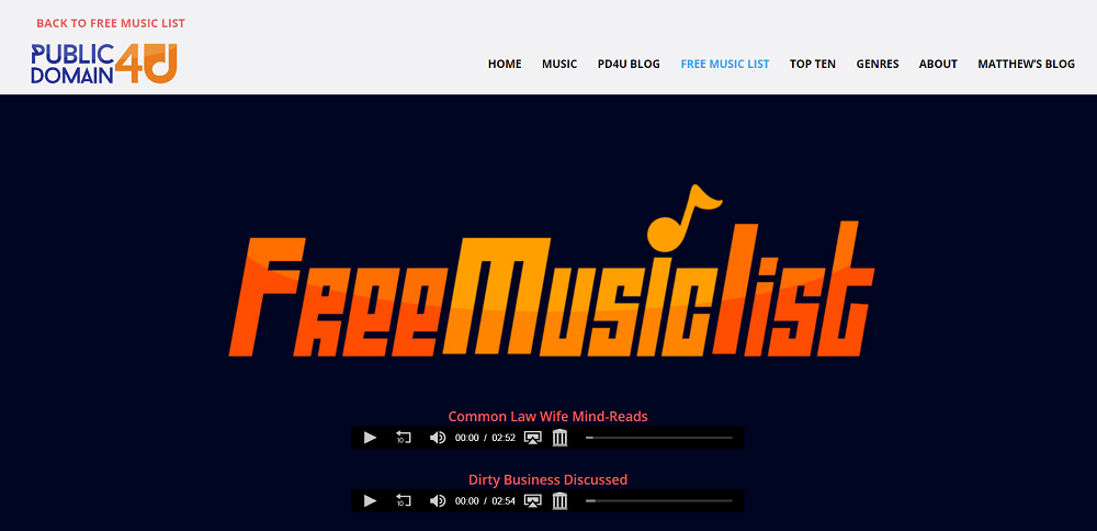 public domain 4 u - best sites to download free mixtapes