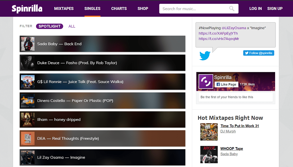 spinrilla - best sites to download english songs free