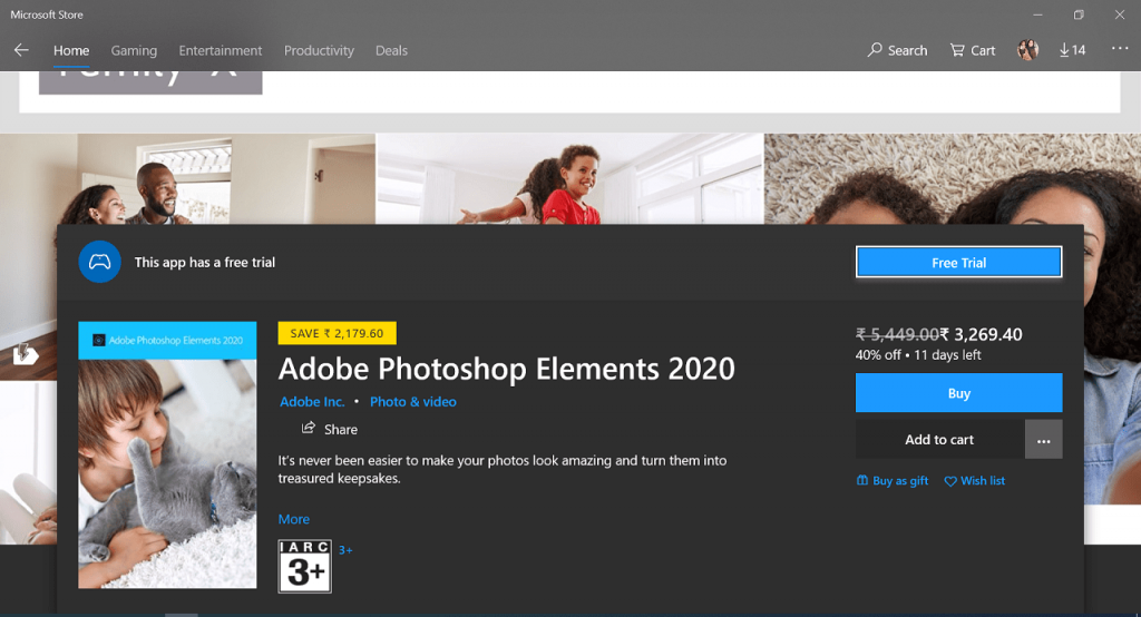 Download Adobe Photoshop Elements 2020 for Windows 10 from Microsoft Store