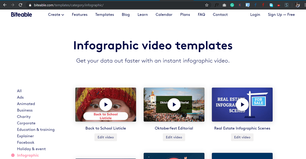 biteable - create stunning video infographics
