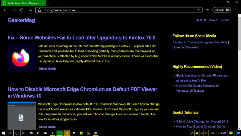 How to Enable High Contrast Mode in Edge Chromium