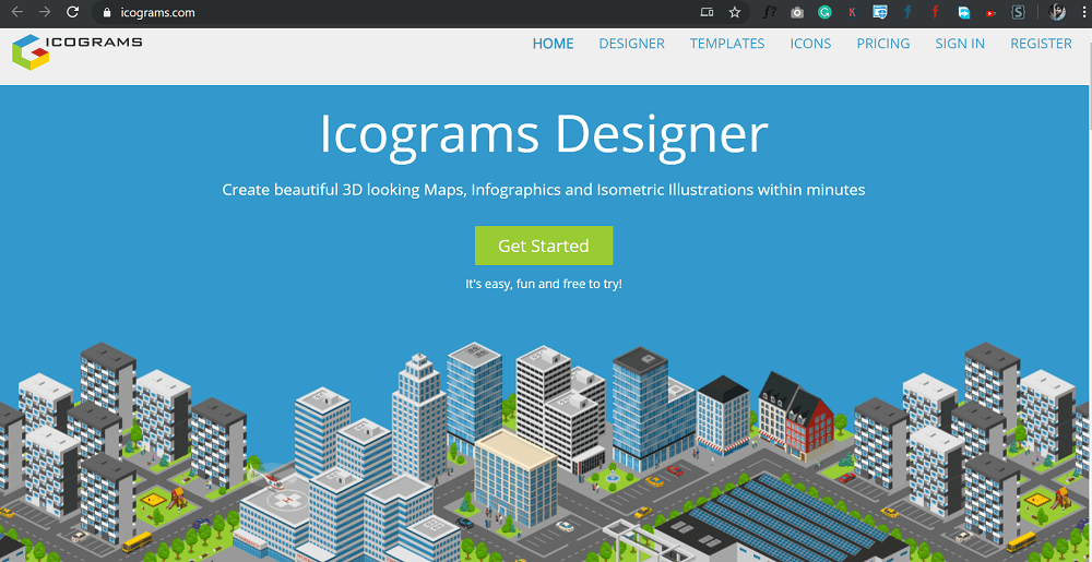 Icograms - create beautiful infographics