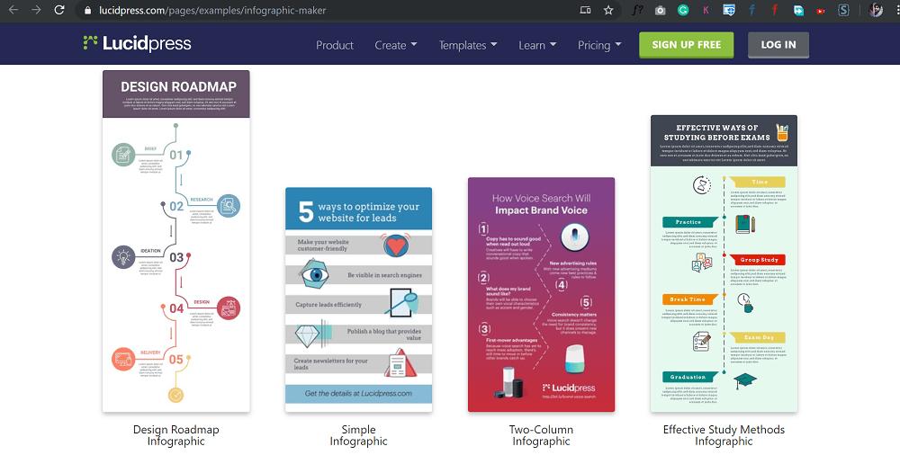 lucidpress - free infographc maker