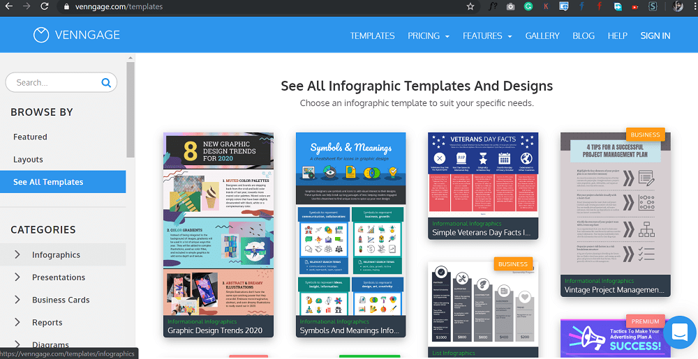 venngage - Create the perfect infographic for free